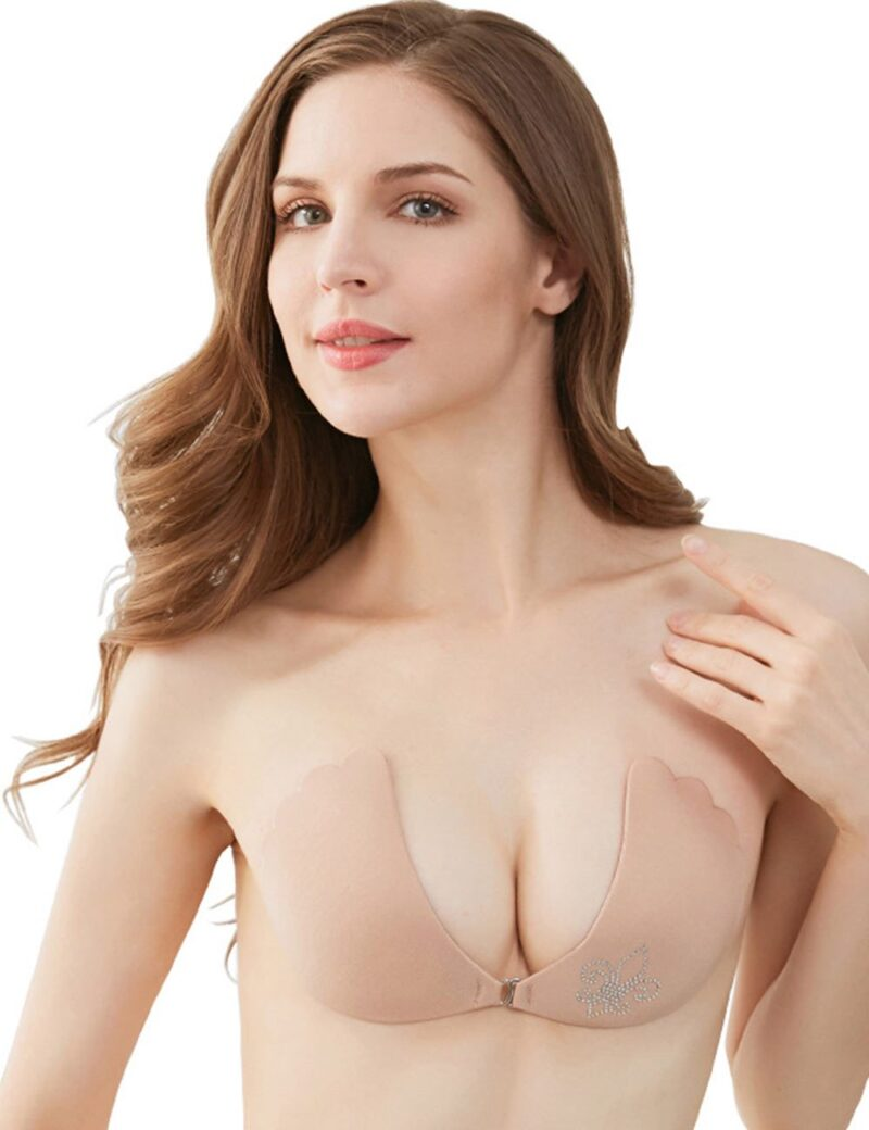 Invisible Strapless Backless Fabric Adhesive Bra - Niidor