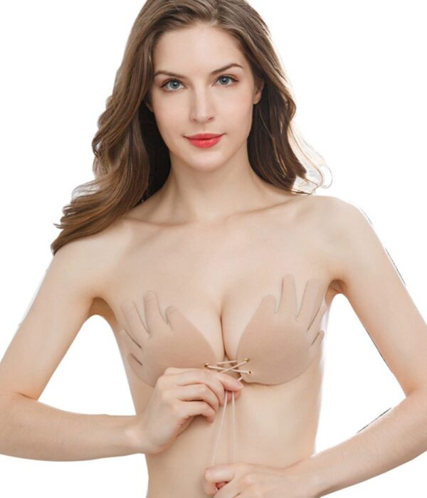Strapless Backless Hand-Shaped Fabric Adhesive Bra - Niidor