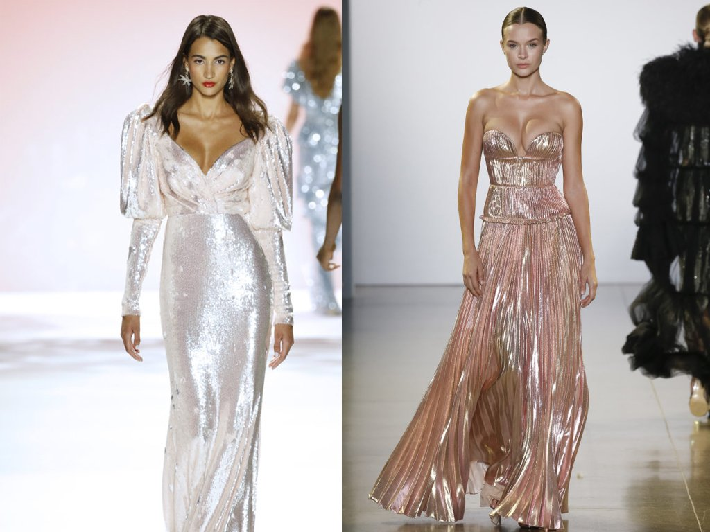 Sequins, silk, and satin